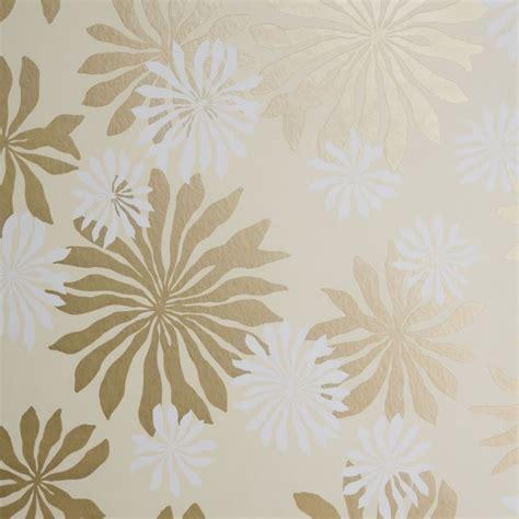 missprint misp fleur cream gold wallpaper missprint