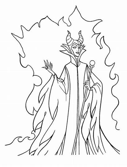 Maleficent Fun Coloring Pages