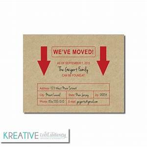 Change of address announcement cardboard box new for Custom new address cards