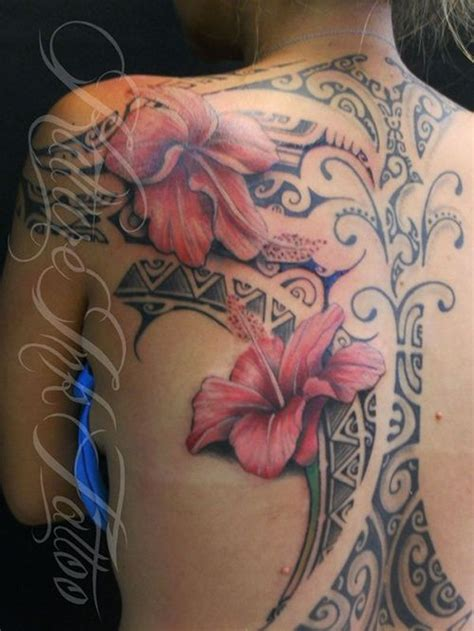 The Gallery For > Beautiful Flower Back Tattoos