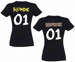 Bettwäsche Für Pärchen : se creation bff partner t shirts blondie brownie mit ~ Michelbontemps.com Haus und Dekorationen