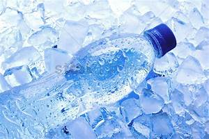 Bottled water with ice cubes Stock Photo - 1686981 ...