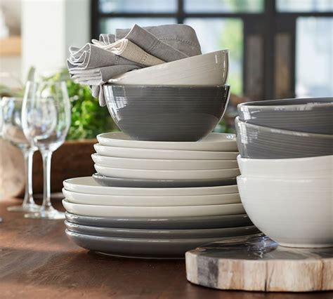 plate joshua dinner dinnerware contemporary gray ivory salad table casual offers fresh modern plates want dishes pottery kitchen barn dining
