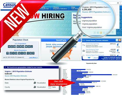 census bureau statistics improved search and quickfacts enhance census bureau s website