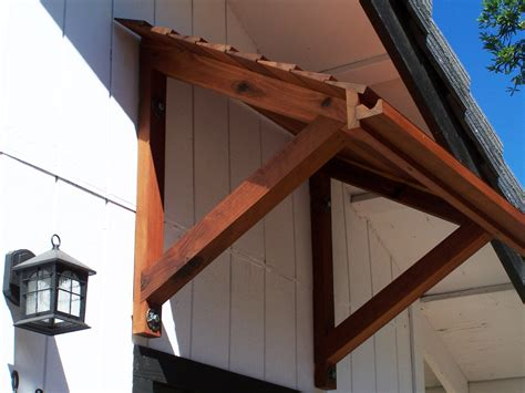 wood working plan ideas build wood awning frame