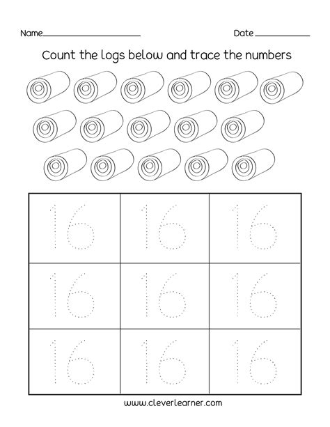 number writing counting and identification printable worksheets for children