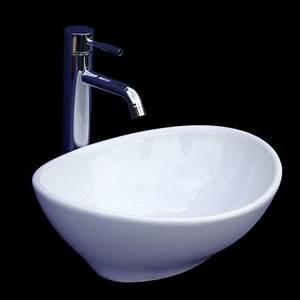 Waschbecken Oval Aufsatz : aufsatz waschbecken keramik oval 40x33cm ~ A.2002-acura-tl-radio.info Haus und Dekorationen
