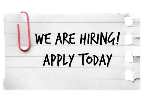 we are hiring sign – Chariton Valley Association, INC.