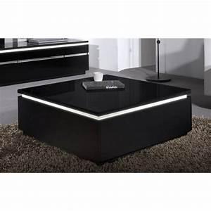 Table Basse En Verre Pas Cher : table basse noire pas cher ~ Melissatoandfro.com Idées de Décoration