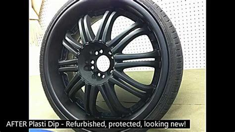 plasti dip spray refurbishing   chrome wheel