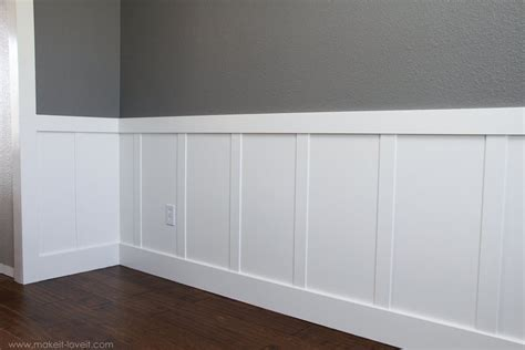 mission style wall dining room wainscoting for 60 ttv decor