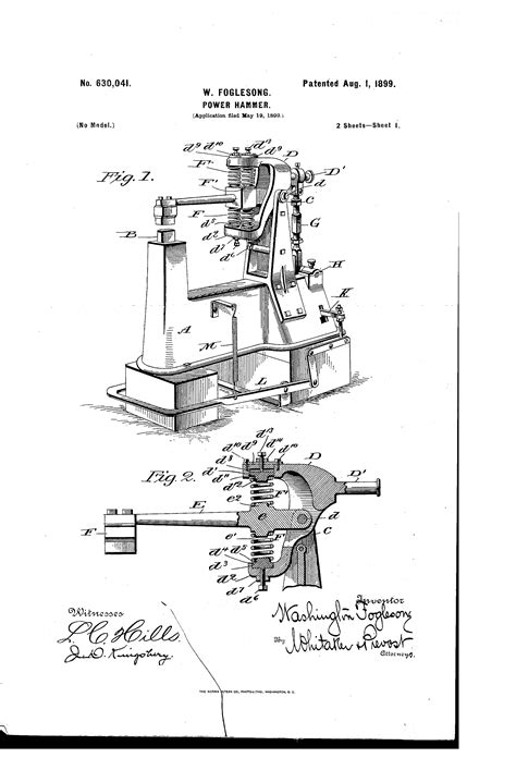 patent  power hammer google patents power