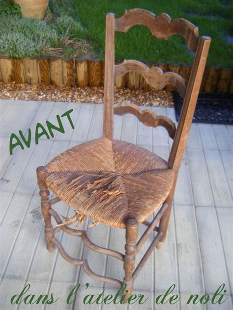 moderniser une chaise en paille encore un premier dans ma coquille