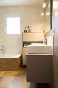 stunning salle de bain parquet fonce images amazing With vasque beige salle de bain