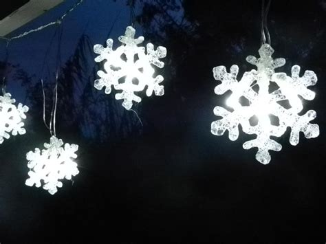 snowflake string lights outdoor snowflake led curtain string christmas light decoration