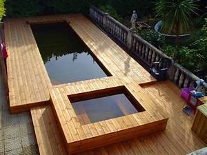 nos realisations de jacuzzis en bois With jacuzzi exterieur sur terrasse