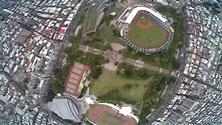 Taiwan, Xinzhuang District, a sports park DJI P2+H3-3D ...