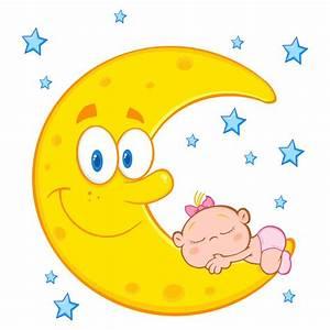 imagenes infantiles de luna vinilo infantil bebe durmiendo With best brand of paint for kitchen cabinets with la kings stickers