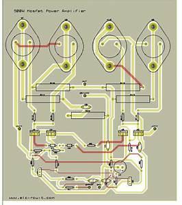 500w Mosfet Power Amplifier 2sk176  2sj56