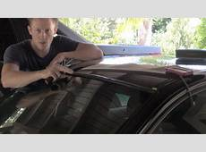 E90 windshield trim replacement DIY YouTube