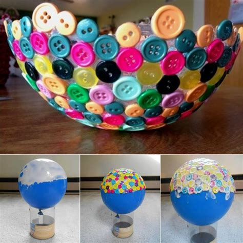 diy ideas balloon bowl diy yarn bowls craf