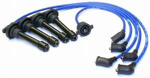 Honda Accord Jdm Ngk Japan Blue Oem Spark Plug Wire Set He62 92 93 94 95 96 97