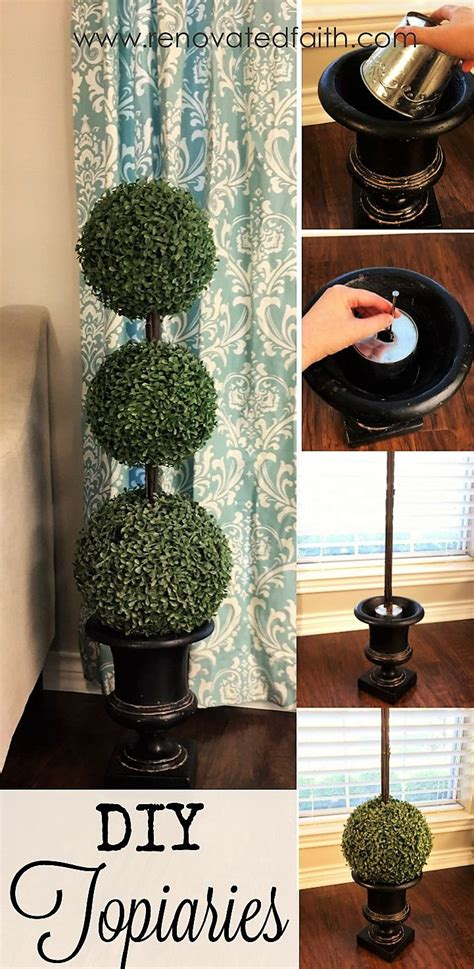 easiest diy topiary trees   budget topiary