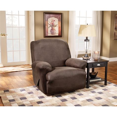 Recliner Slipcovers by Sure Fit Stretch Leather Recliner Slipcover Chair