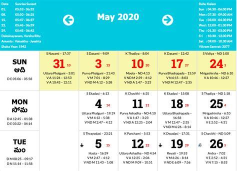 Telugu Calendar 2020 – January To December 2020 ...