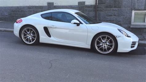 white porsche porsche cayman 981 white short walkaround youtube