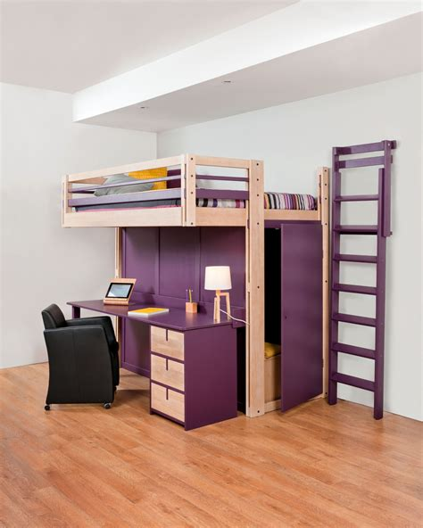 lit bureau mezzanine lits mezzanines attic