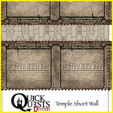 quick quests temple wall set 3d dungeon tiles and maps for