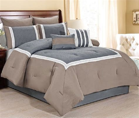 luxurious  piece quilted comforter set king size