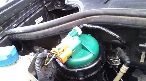 fiat doblo  multijet diesel fuel filter leak youtube