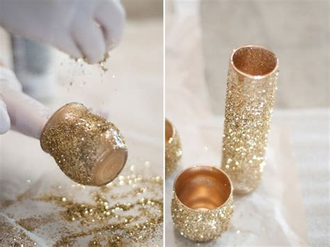 small glass candle holders bulk glitter glam diy centerpieces by la lune events apple brides