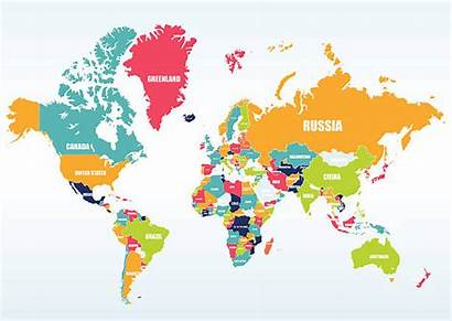 Map Countries Vector Clip Illustrations Graphics Royalty