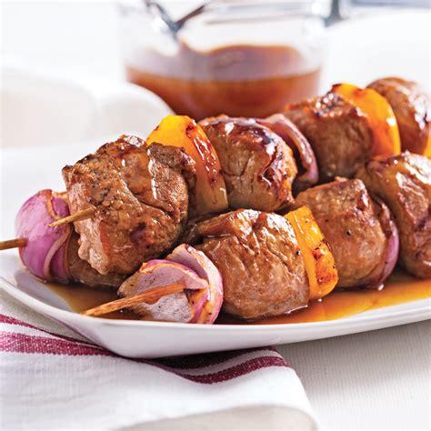 cuisine porc brochettes de porc sauce sucrée recettes cuisine et