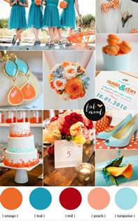 Teal And Orange Living Room Decor by Turquoise And Orange Beach Wedding Orange And Teal Beach