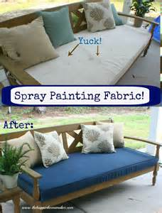 spray painting fabric the happier homemaker