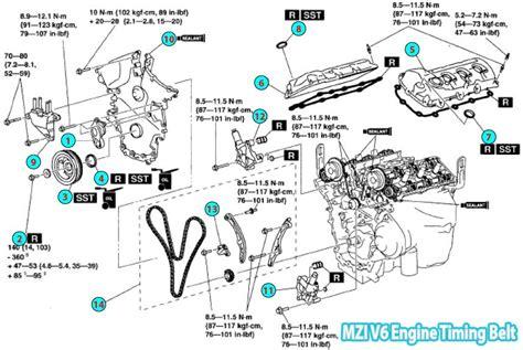 Mazda Timing Belt Parts Diagram Mzi Engine