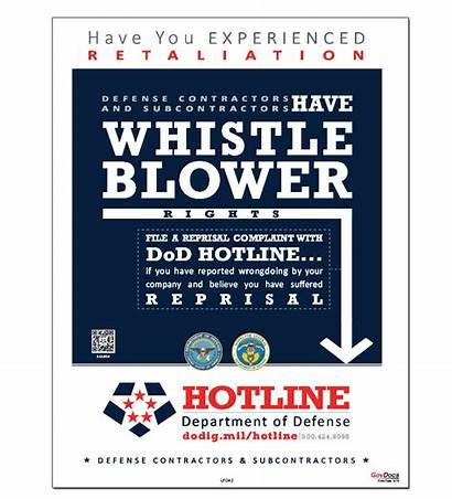 Hotline Whistleblower Poster Defense Department Posters Dod