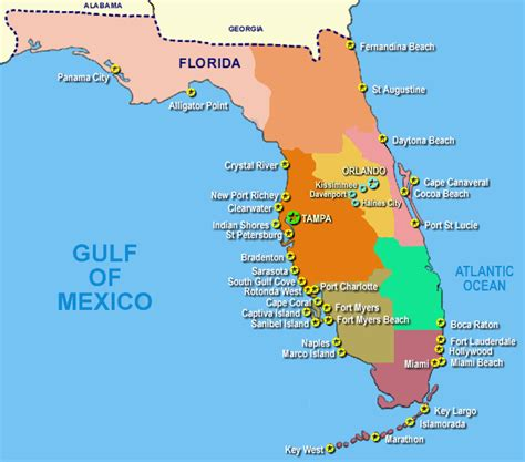 map  floridas west coast coast   west coast