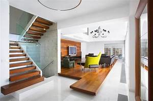 Interior design of living room with stairs design and ideas for Living room design with stairs
