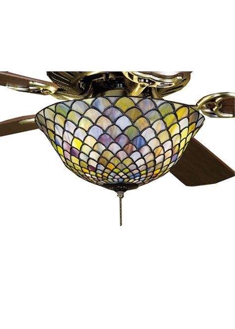 meyda tiffany ceiling fan light kit meyda tiffany 27451 fishscale tiffany ceiling fan light