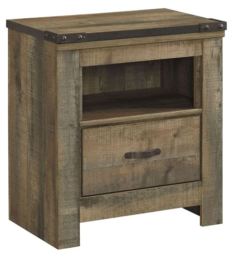 One Nightstand by Trinell Brown One Drawer Stand From B446 91