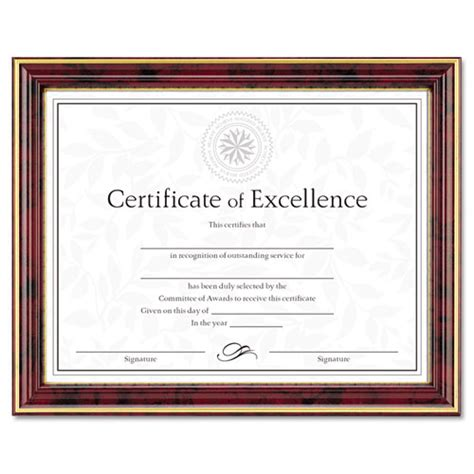 gold trimmed document frame wcertificate wood