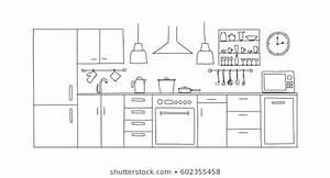 Kitchen Sketch Images  Stock Photos  U0026 Vectors