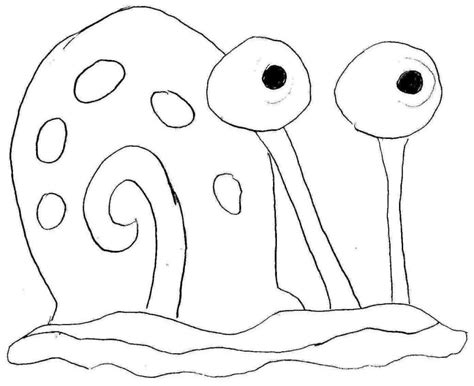 Gary Spongebob Coloring Pages