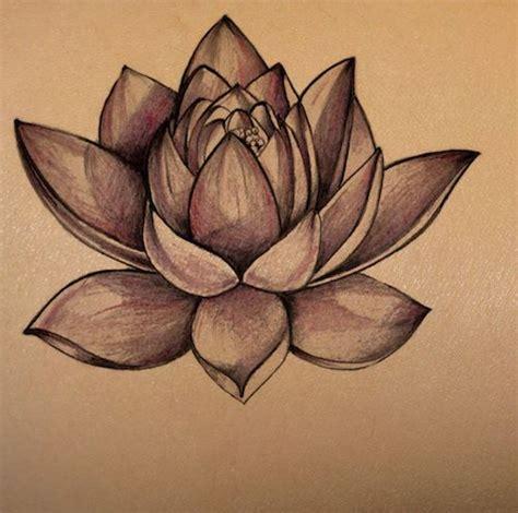 lotus flower  dark skin tattoo stencil temporary