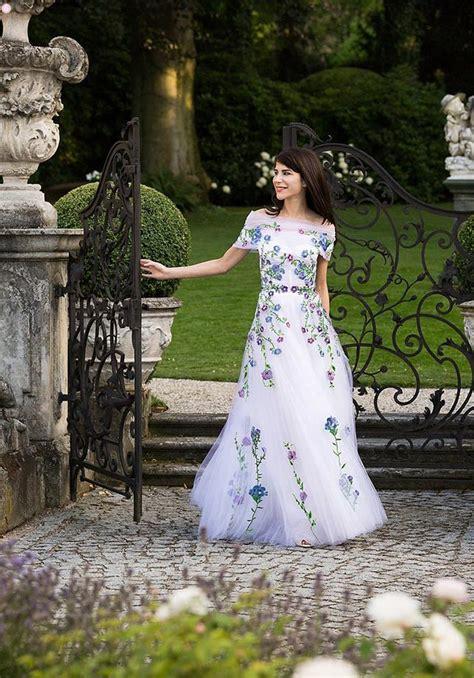 design inspiration  floral wedding gowns exquisite